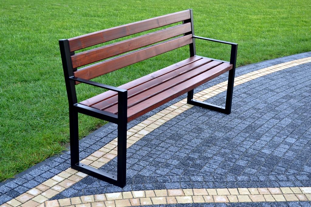 Parková lavička ANA s opierkami 150 cm