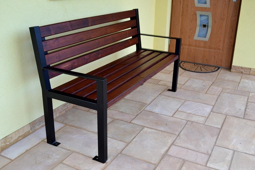 Parková lavička LUX s opierkami 150 cm